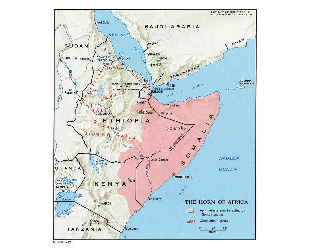 Cuerno De Africa Mapa.Mapas De Cuerno De Africa Coleccion De Mapas De Cuerno De