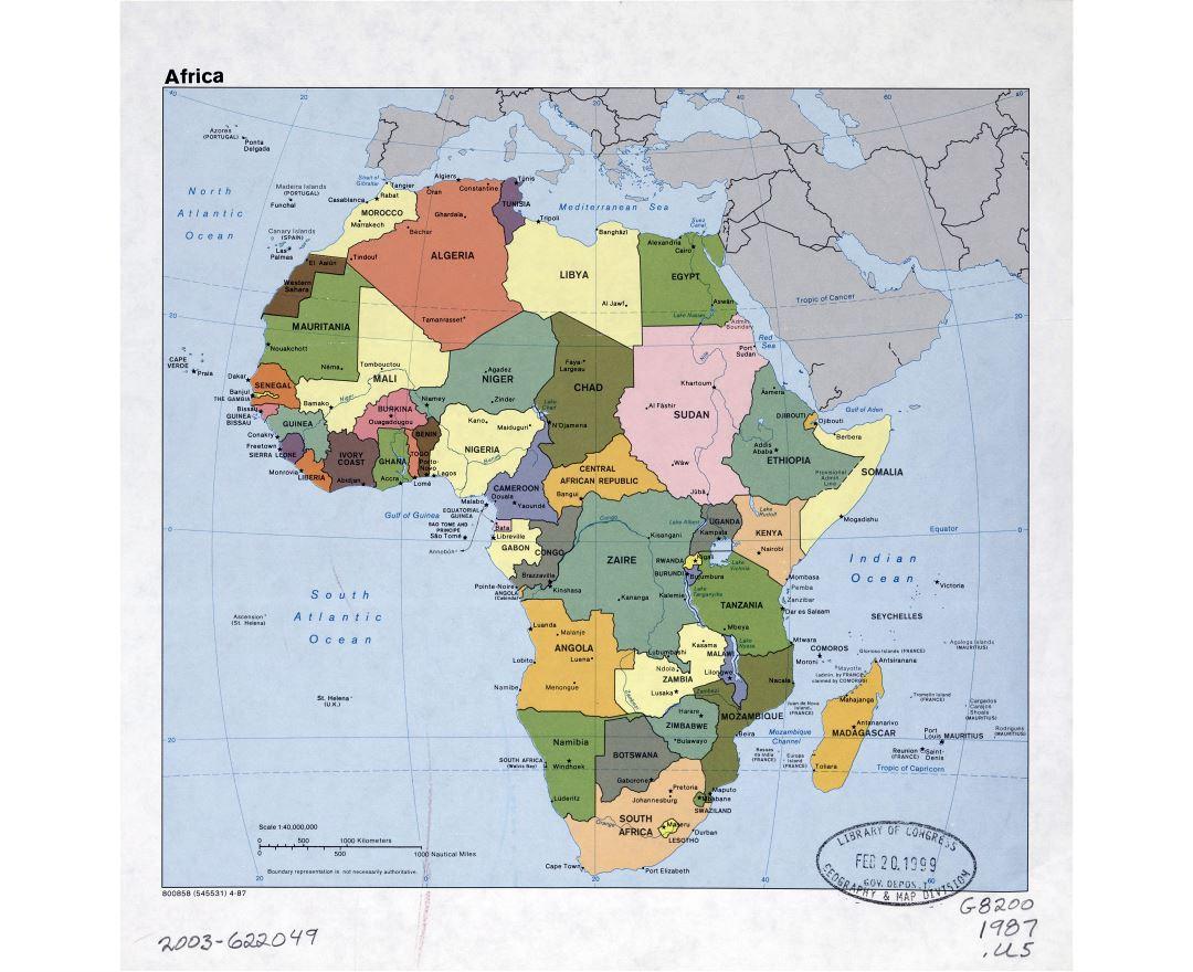 Mapas De Africa Y Paises Africanos Coleccion De Mapas De Africa