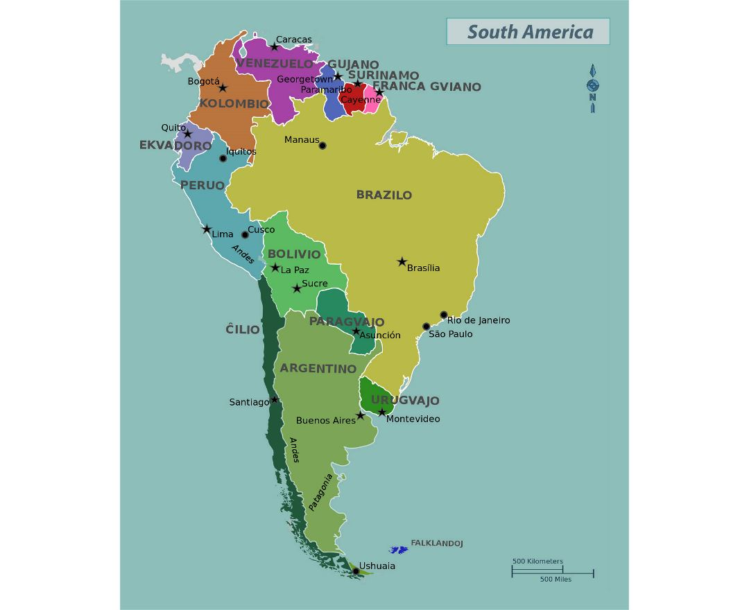 Mapas De America Del Sur Y Paises De America Del Sur Coleccion De Mapas De America Del Sur Mapas Del Mundo