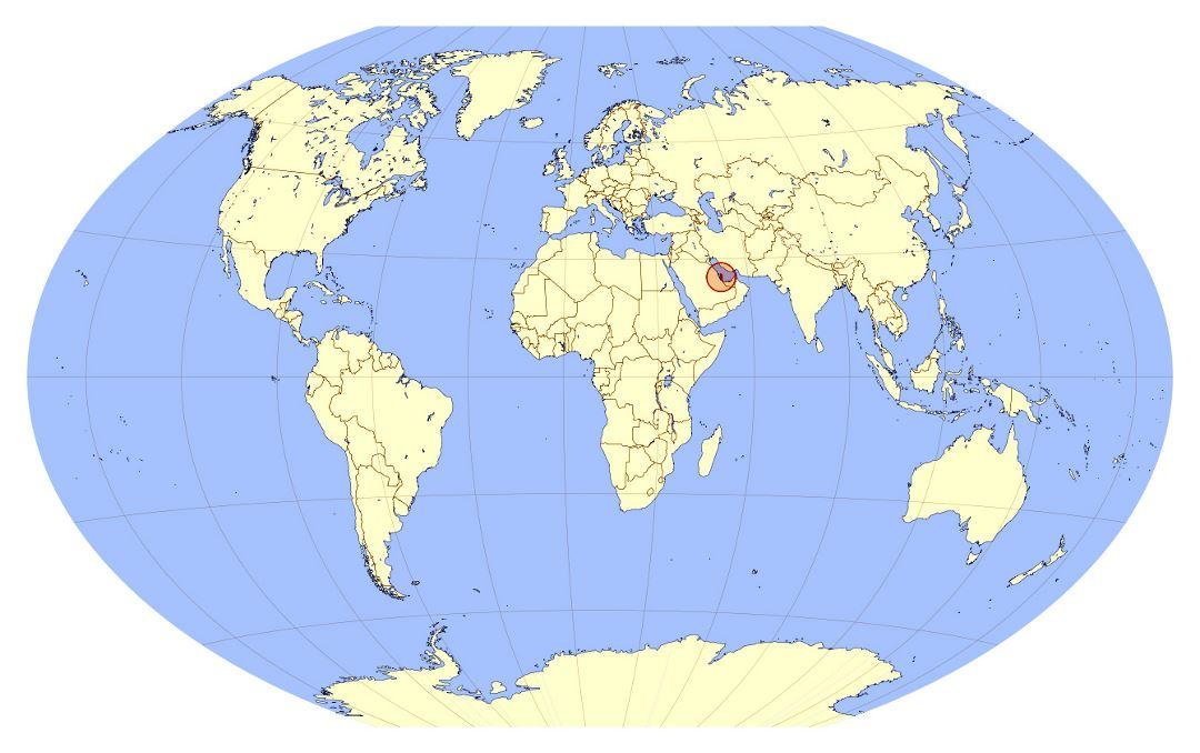 grande mapa de ubicación de catar | catar | asia | mapas