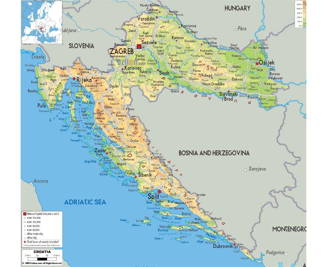 Mapas De Croacia Coleccion De Mapas De Croacia Europa Mapas