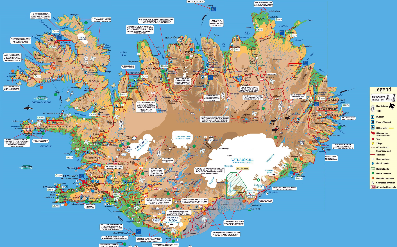 Mapa Turistico Detallada De Islandia Islandia Europa Mapas