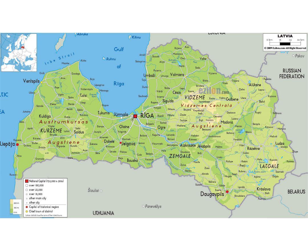 Mapas De Letonia Coleccion De Mapas De Letonia Europa Mapas