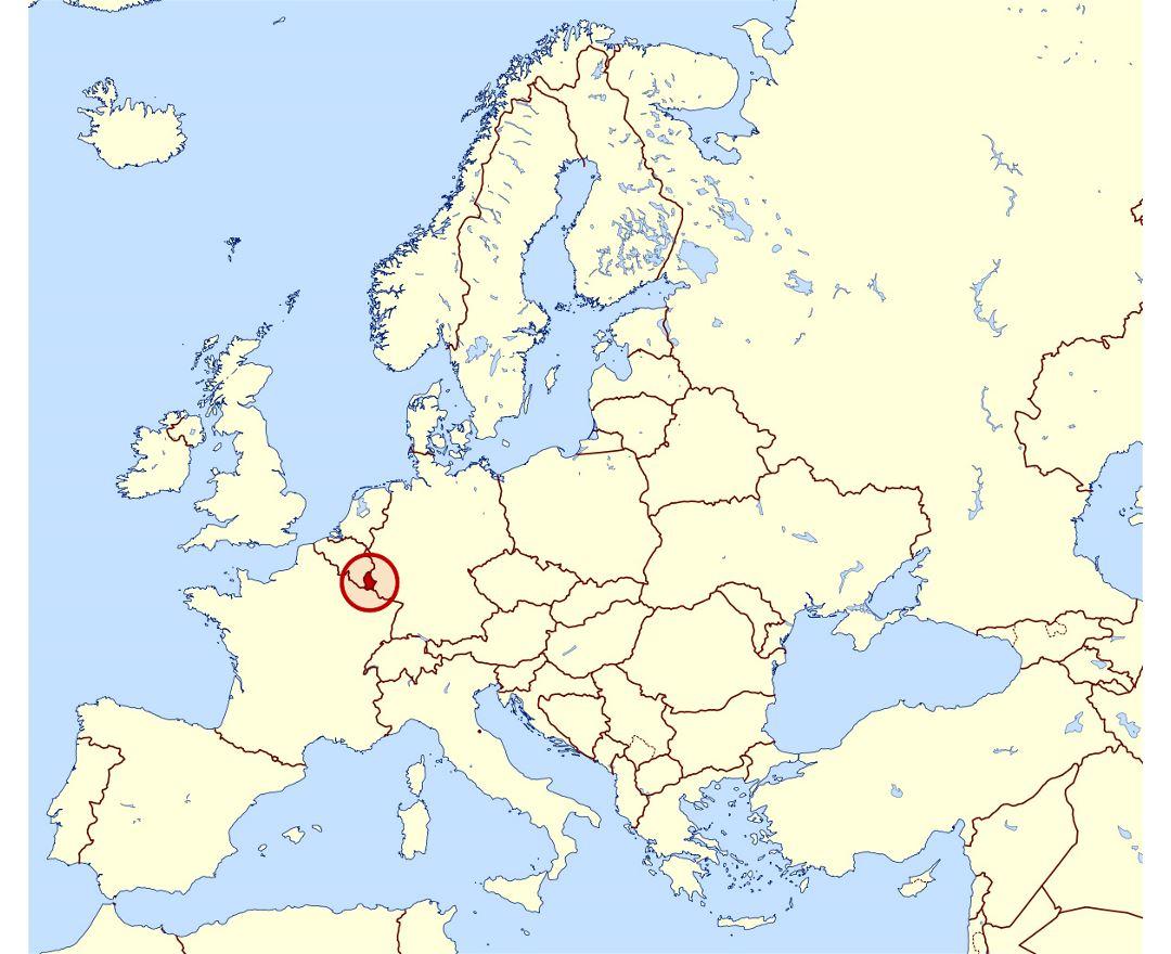 Resultado de imagen de ubicacion luxemburgo