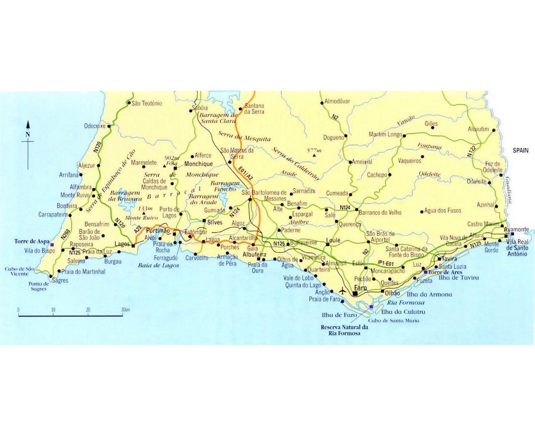 Mapas De Algarve Colección De Mapas De Algarve Portugal Europa Mapas Del Mundo