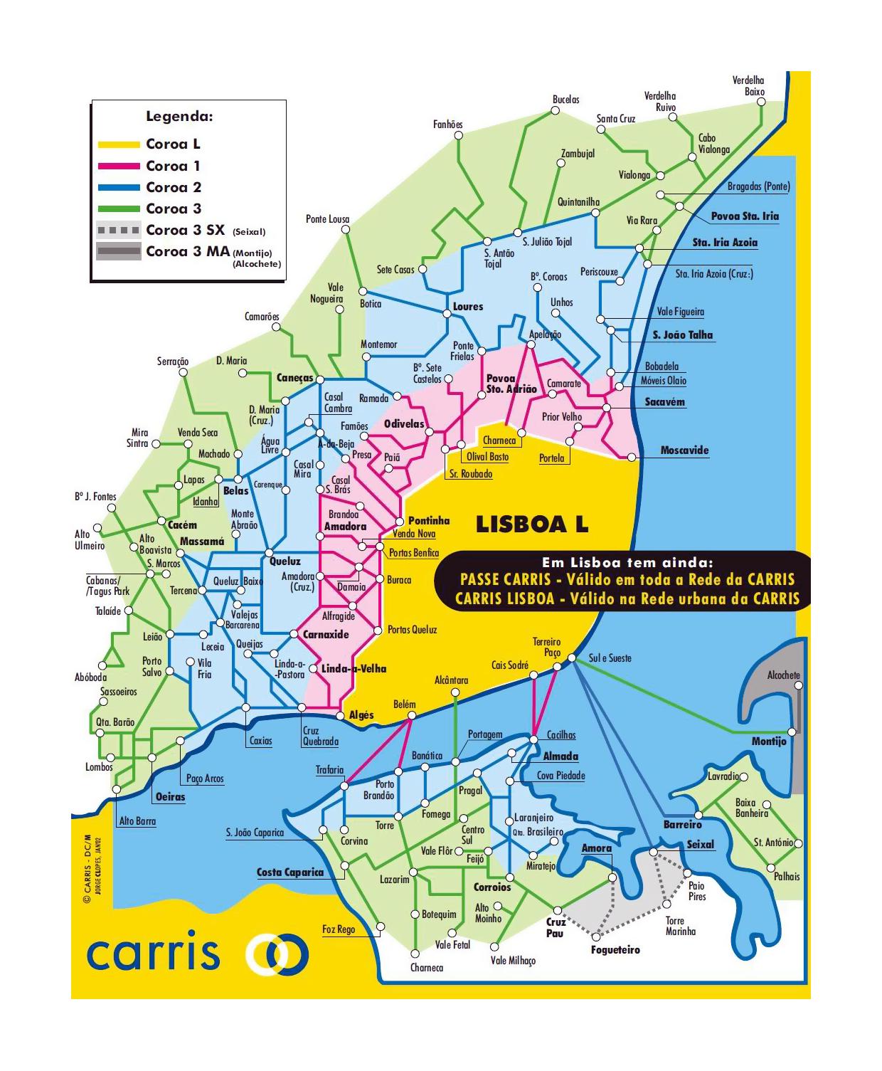 Detallado Mapa De Red Ferroviaria De Lisboa Lisboa Portugal