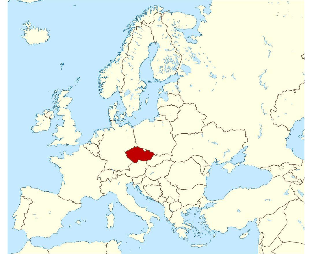Mapas de República Checa | Colección de mapas de República Checa | Europa |  Mapas del Mundo
