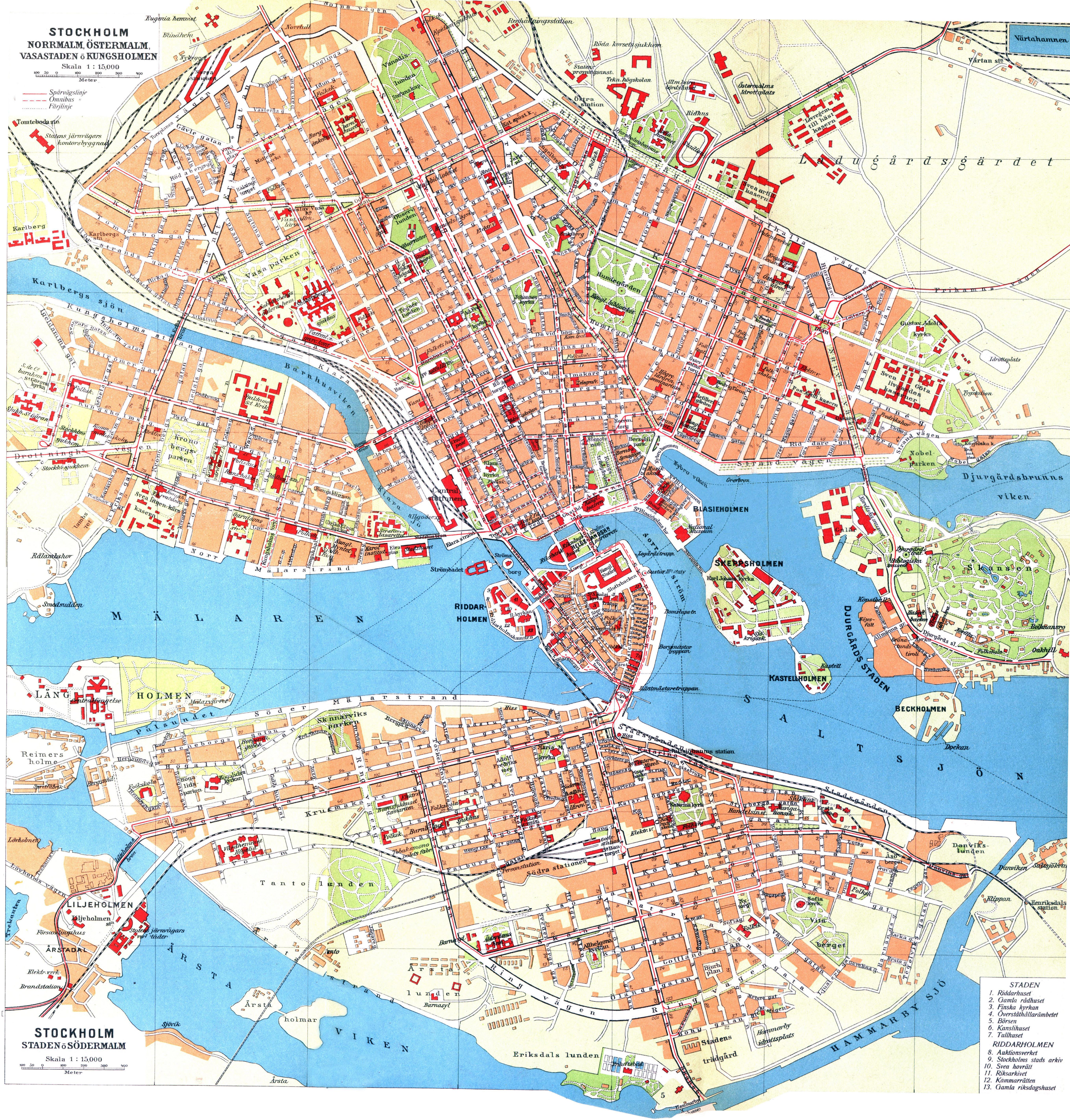 Grande Detallado Mapa Antiguo De Ciudad De Estocolmo Estocolmo
